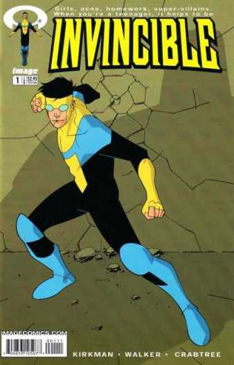 Cover for Invincible #1 by Robert Kirkman and Cory Walker
