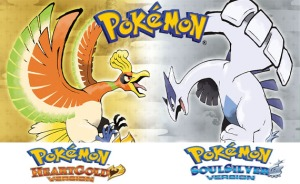 Japanese of artworks of Pokemon versions Heart Gold (on left) and Soul Silver (on right). Both games are remakes of the original Gold and Silver versions. If Nintendo is to follow the schedule they've been following for years, we should expect to see remakes of Ruby and Sapphire announced tomorrow.