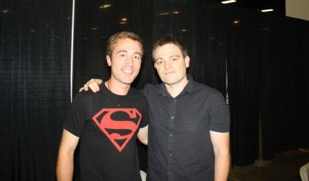 G&C's Ian Gaudreau (left) with Batman Writer, Scott Snyder (right)