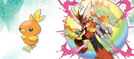 Torchic and Blaziken's Mega Evolution