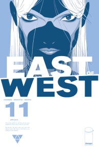 """Cover to """"East of West"""" #11 from Image. Cover art by Nick Dragotta."""