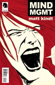 """Mind MGMT"" #21 from Dark Horse. Cover art by Matt Kindt."