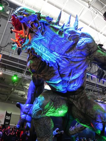 A to-scale replica of Evolve's Monster