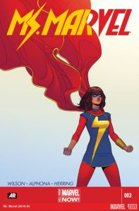 """Ms. Marvel"" #3 from Marvel. Cover art by Jamie Mckelvie."