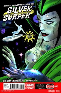 """Silver Surfer"" #2 from Marvel Comics. Cover art by Mike Allred."