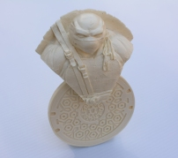 White resin Leonardo bust.